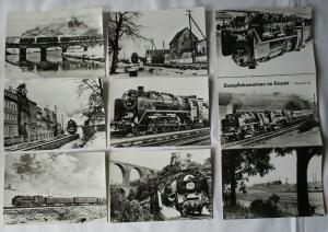 Ansichtskartenmappe mit 6 Karten Dampflokomotiven im Einsatz BR 62 (69258)