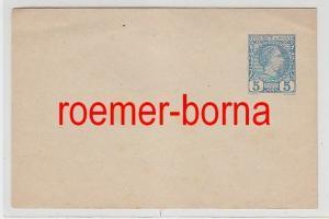 69767 alter Ganzsachen Brief 5 Centimes blau Monaco um 1900