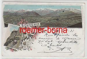 73818 Ak Lithographie Souvenir du Saleve 1897
