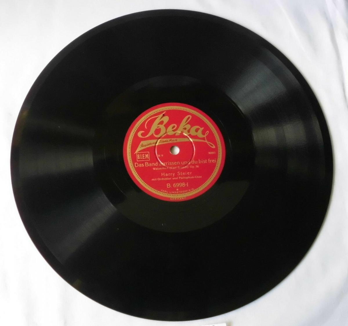 112613 Schellackplatte Harry Steier