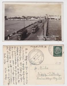 91557 Kriegsmarineschiffspost Ak Pernambuco Ponte Buarque 1936