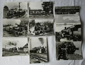 Ansichtskartenmappe mit 6 Karten Dampflokomotiven im Einsatz BR 38.2-3 (89681)