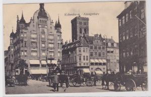 86411 AK Kopenhagen, Amagertor - Stadtansicht mit vielen Pferdekutschen um 1910