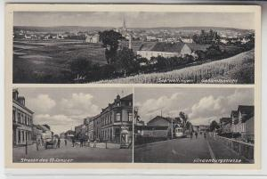 69606 Mehrbild Ak Saarwellingen Hindenburgstrasse usw. 1940