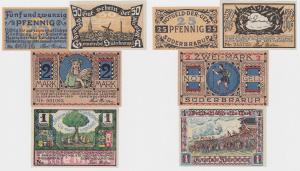 4 Banknoten Notgeld Gemeinde Süderbrarup 1920 (122053)