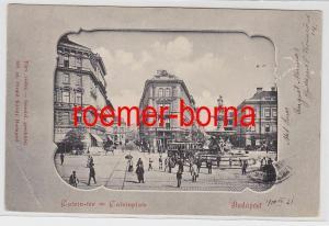 83207 Ak Budapest Ungarn Calvinplatz mit Strassenbahn 1900
