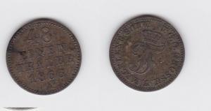 1/48 Taler Silber Münze Mecklenburg Schwerin 1866 A (119134)