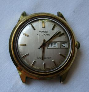 Seltene Armbanduhr Timex Automatic Made in Great Britain (134264)