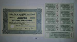 100 RM Aktie Meißner Ofen- und Porzellanfabrik (vorm.C.Teichert) 1934 (132063)