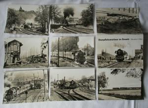 Ansichtskartenmappe mit 6 Karten Dampflokomotiven im Einsatz 41 Reko (60600)