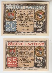 25 und 50 Pfennige Notgeld Stadt Laufen 1920 (110684)