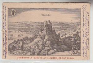 68776 Ak Münchenstein bei Basel im XVI.Jahrhundert (nach Merian) 1902