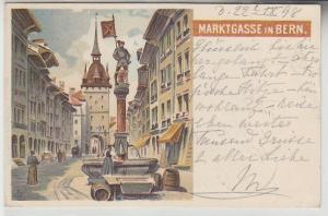14238 Ak Lithographie Marktgasse in Bern 1898