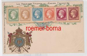84504 Ak Lithographie Die ersten Briefmarken von Frankreich um 1900