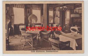 84539 Ak Bremerhaven Bürgermeister-Schmidt-Str. 43 Café Bismarck Gastraum 1921