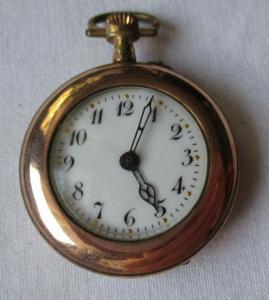 Vergoldete Damen Taschenuhr um 1920 (134498)