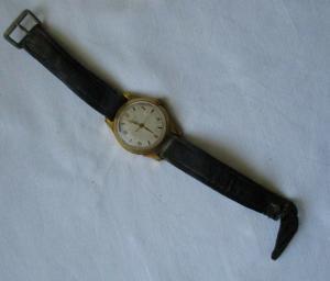 Seltene Armbanduhr Russia Made in CCCP mit Lederarmband (134264)