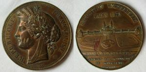 Medaille Exposition Universelle Paris 1878 Weltausstellung Paris 1878 (129147)