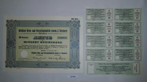 100 RM Aktie Meißner Ofen- und Porzellanfabrik (vorm.C.Teichert) 1934 (131754)