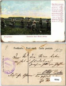 82332 Feldpost Ak Deutsch Süd West Afrika Kriegsbilder um 1907