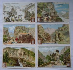 Liebigbilder Serie Nr. 496, Gebirgspässe, komplett Jahrgang 1901 (L122961)