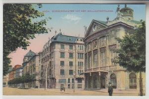 67944 Ak Wien Bürgertheater mit der Zollamtstrasse um 1910