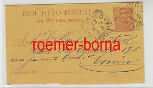 82426 Ganzsachen Postkarte Torino Italien 1891