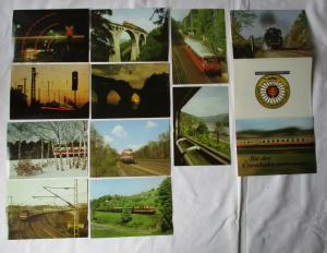 Ansichtskartenmappe mit 10 Karten Mit der Eisenbahn unterwegs ... (94581)