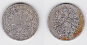 1 Mark Silber Münze Deutschland Kaiserreich 1873 D Jäger Nr.9 (123278)
