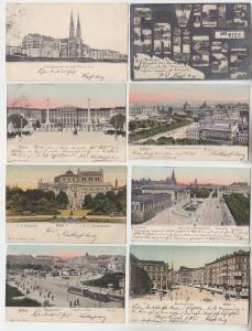 69034/8 Ak Wien Kärnthnerstraße, Naschmarkt, Volksgarten usw. um 1900