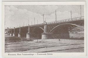 67952 Ak Warschau Warszawa Poniatowski Brücke 1942