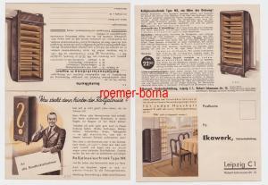 86267 Werbe Postkarte für Rolljalousieschrank der Fa. Ekawerk Leipzig um 1930