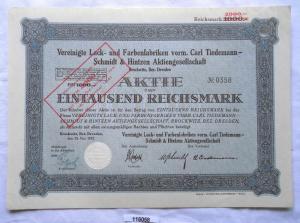 Aktie Lack- und Farbenfabriken Brockwitz Bezirk Dresden 1927 (116058)