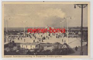 84568 Ak Zoppot (Sopot) Sommersonnentag im Zoppoter Großkurgarten um 1930