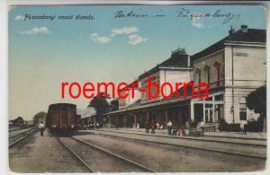 77021 Ak Füzesabony vasuti Àlomás Bahnhof 1915