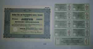 100 RM Aktie Meißner Ofen- und Porzellanfabrik (vorm.C.Teichert) 1934 (132230)