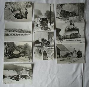 Ansichtskartenmappe mit 6 Karten Harzbahnen im Winter (94582)