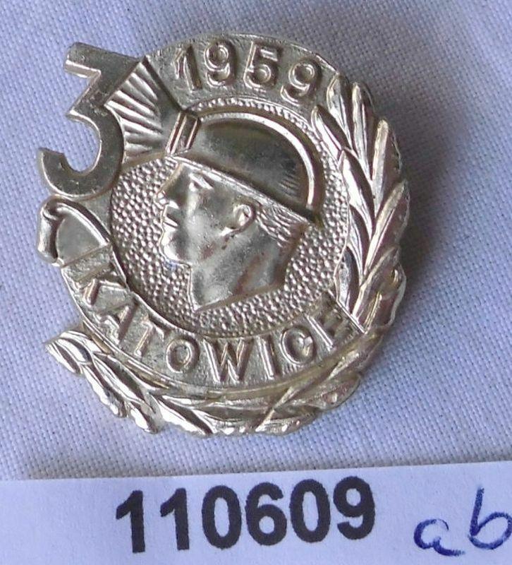 Altes Abzeichen Bergbauregion Katowice 1959 (110609) 0