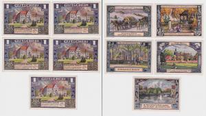 5 Banknoten Notgeld Walsrode Erholungsheim der Gewerkschaft (1922) (123334)
