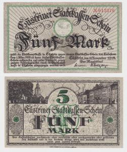 5 Mark Banknote Notgeld Stadt Cüstrin 19.11.1918 (119464)