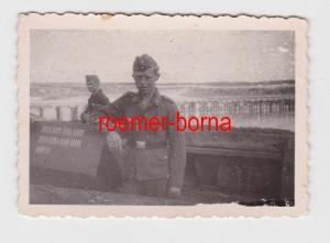 55493 Foto Flakstellung Russland 1942 mit Strichliste der Abschüsse