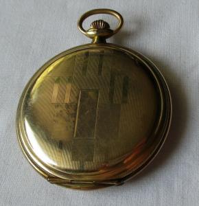 Vergoldete Herren Taschenuhr Marke Junghans um 1930 (134497)