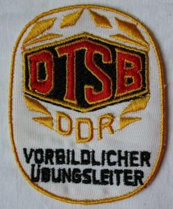 DDR Aufnäher DTSB Deutscher Turn-& Sportbund vorbildlicher Übungsleiter (133896)