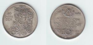 DDR Gedenk Münze 10 Mark 40.Jahrestag der DDR 1989 (111936)