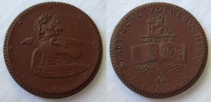 DDR Porzellan Medaille Städtische Volksbücherei Meissen Los Nr. 8005 (113066)