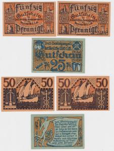 Grossalmerode Detaillistenvereinigung 3 Verkehrsscheine um 1920 (124786)