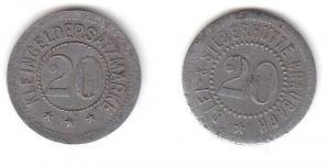 20 Pfennig Zink Notmünze Blei- & Silberhütte Braubach (111786)