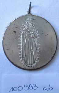 Alte Medaille Mariendom zu Erfurt Sancta Maria ora pro Nobis (100993)