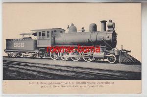72958 Ak Hanomag Dampf Lokomotive Der Brasilianischen Zentralbahn um 1910