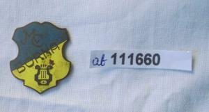 Alte emaillierte Anstecknadel Männergesangverein Borna um 1925 (111660)